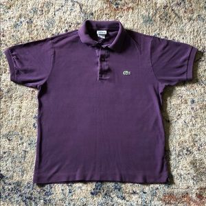 Purple Lacoste Polo
